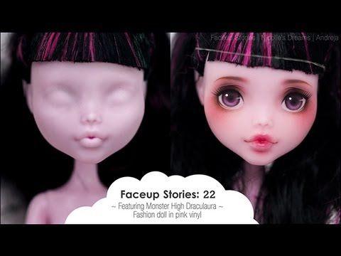 Guckst Du auf youtube den channel von Nicolle's Dreams.  Faceups kann man grundsätzlich wohl mit Acrylfarben oder mit Wasserfarbenstiften & Pastellkreide machen - beides muss natürlich...