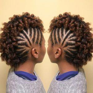 35 coiffures de transition pour cheveux courts – Partie 25 # Coiffures naturelles   – natural hair styles