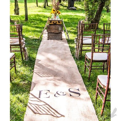 rustic wedding burlap aisle runnerswedding