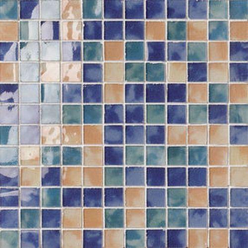 "#Settecento #Musiva Mix "" C "" Blu-verde-giallo 2,2x2,2 on grid 28,6x28,6 cm 100203 | #Glas on ceramic | on #bathroom39.com at 197 Euro/sqm | #mosaic #bathroom #kitchen"