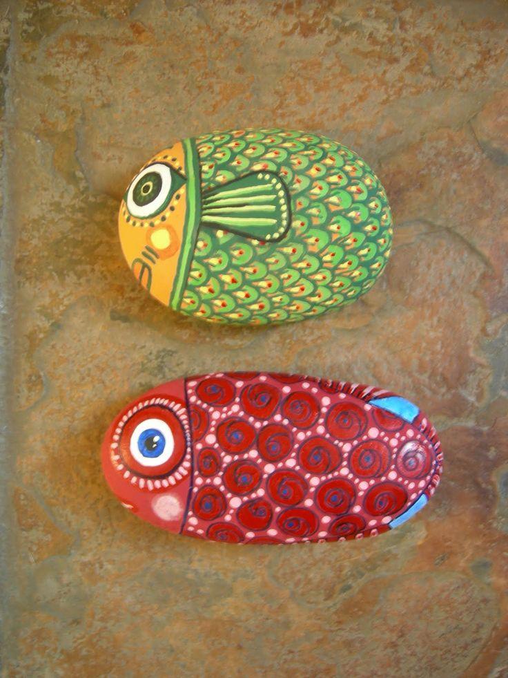 Kedibu Murales y Objetos Decorativos: Piedras pintadas:búho, seta ...
