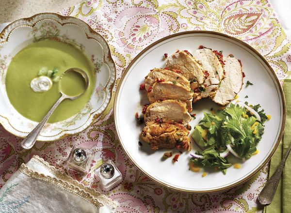 ... -Caper Pork and Chilled Melon-Cucumber Soup Recipe from #PublixAprons