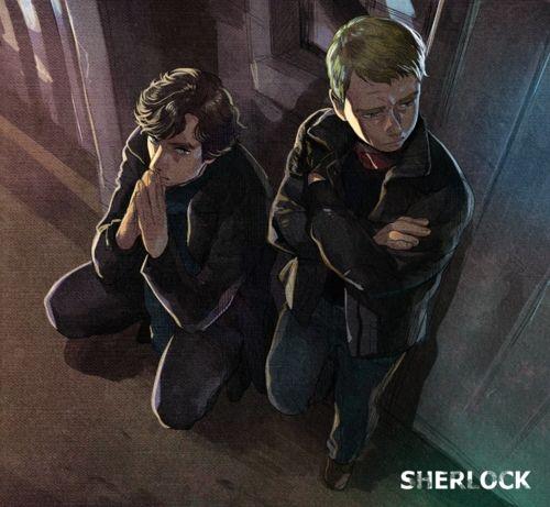 Sherlock and John on a case. Gorgeous fan art by Joan. <<<< Okay, this is freaking amazing.