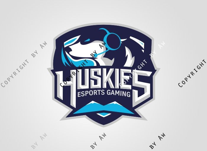 Huskies Clan Logo(Vektor)/Spielerrahmen/T-Shirt - Logo - ClanDesigns