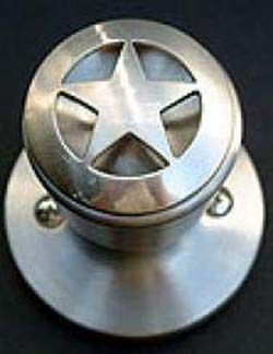 Pewter finish star knob