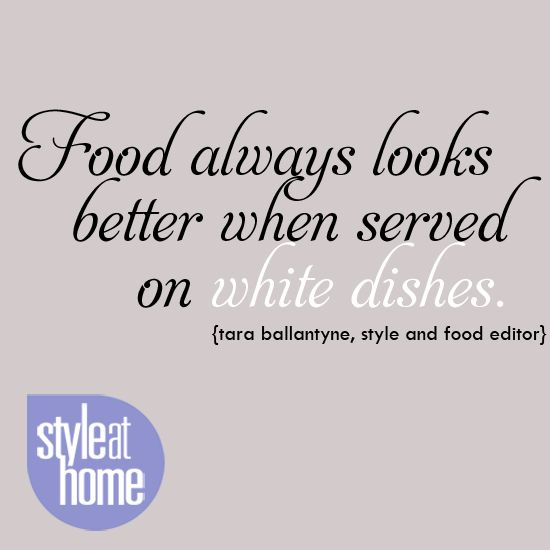 Style at home food editor