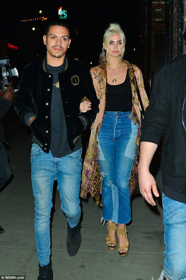 Table for two: Ashlee Simpson stepped out for a meal at Hollywood eatery Tao with her husband Evan Ross on Tuesday night