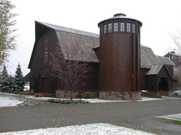 200 Year Old Barn Incorporated Into The Design For A New Home Silo