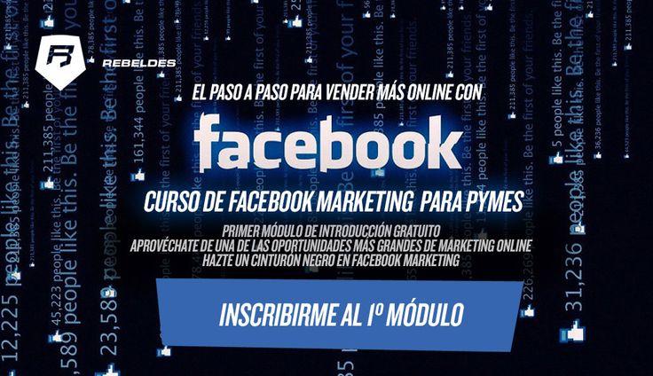¡ÚLTIMA OPORTUNIDAD! Aprende a generar más ventas con #Facebook Formación Gratuita >>> http://rebeldesmarketingonline.com/marketing_facebook/index.html?utm_source=Pinterest&utm_medium=Pinterest&utmkt_campaign=FacebookMKT