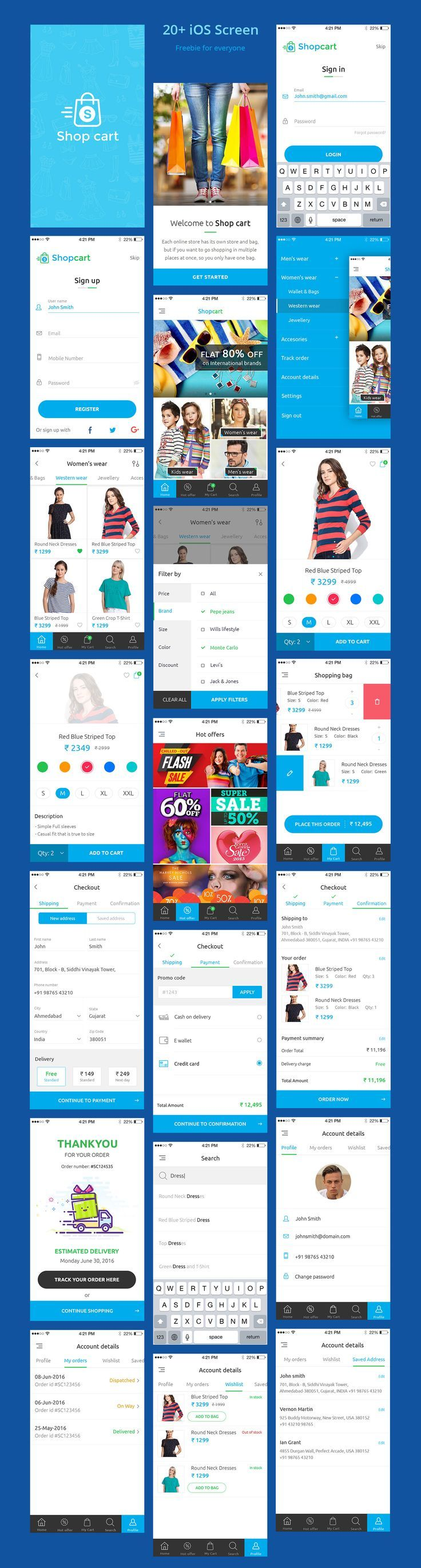 Free UI PSD for eCommerce Mobile App More PSD: 72pxdesigns - Love a good success story? Learn how I went from zero to 1 million in sales in 5 months with an e-commerce store.