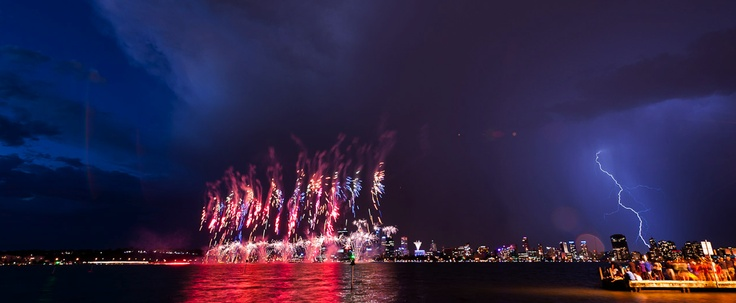 Australia Day Fireworks, Perth, Western Australia