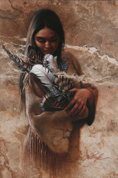 «Мир... приходит в души людей, когда они осознают свою взаимосвязь, свое единство со Вселенной и всеми ее силами, и когда они осознают, что в центре вселенной живет Великий-Дух, и что этот центр в действительности находится везде, внутри каждого из нас». Lee Bogle. В гармонии с внутренним миром Современный американский художник известен коллекционерам своими рисунками американских индейцев, на которых часто изображены одиночные фигуры женщин.