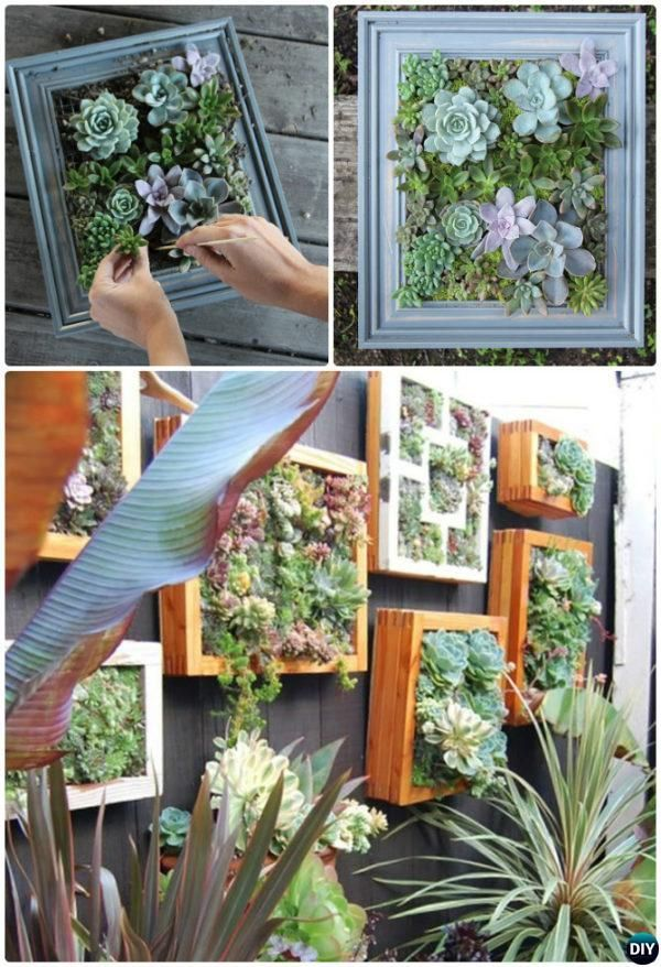 Diy Living Succulent Wall Garden Fence Decor 20 Fence Decoration