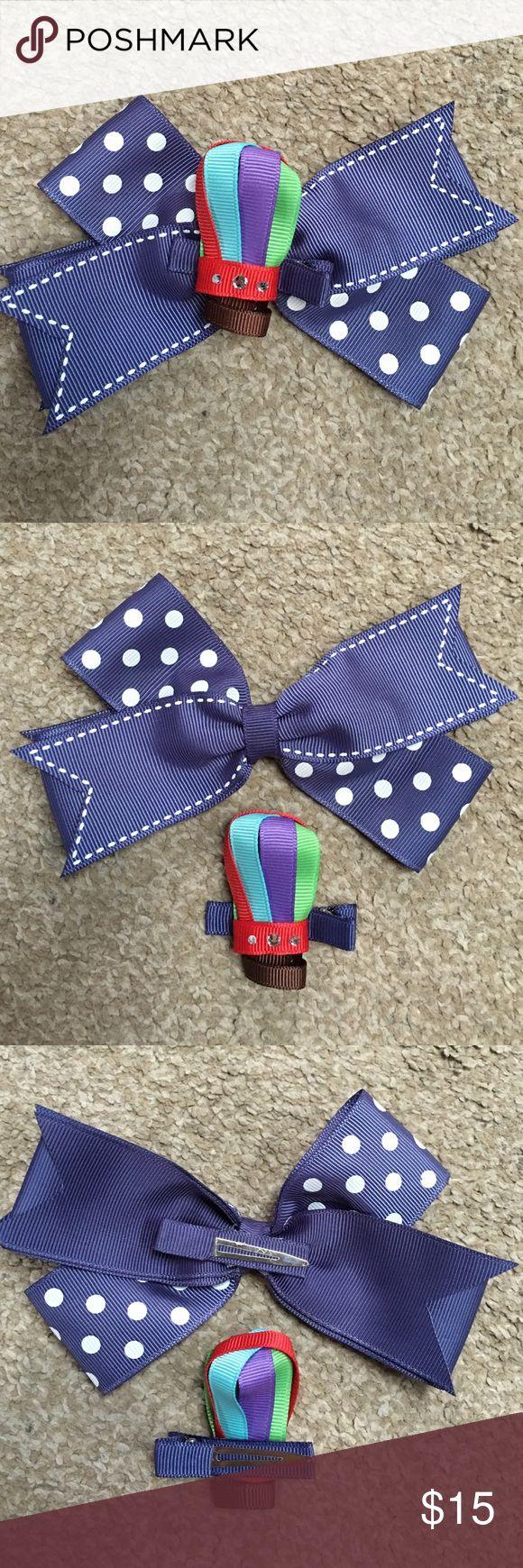 Hair bow button accessories - 2 1 Homemade Hair Bows