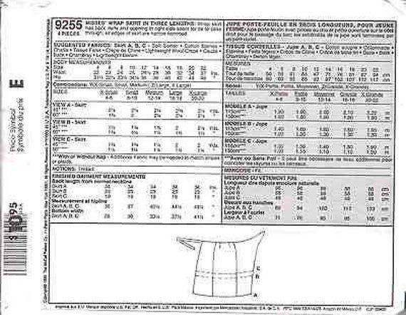 6377 UNCUT Vintage McCalls SEWING Pattern Misses 1 Hour Wrap Skirt OOP FF SEW