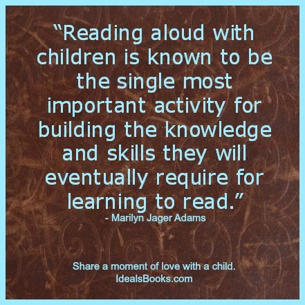 Quotes About Importance Of Reading #Reading Aloud ...