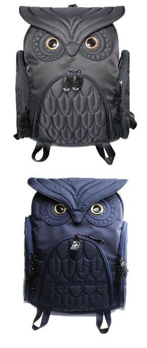 Unique Cool Owl Shape Solid Computer Backpack School Bag Travel Bag for big sale at lilyby.com #owl #laptop #school #college #Bag #backpack #college