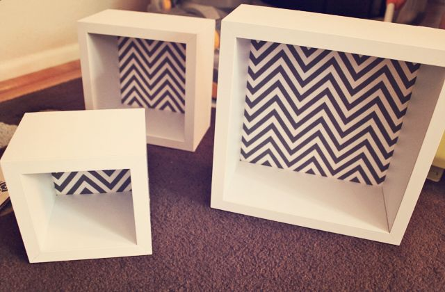 Cubes would be a great Idea in the livingroom or bedroom instead of regular shelving! make your own backing to match your decor!