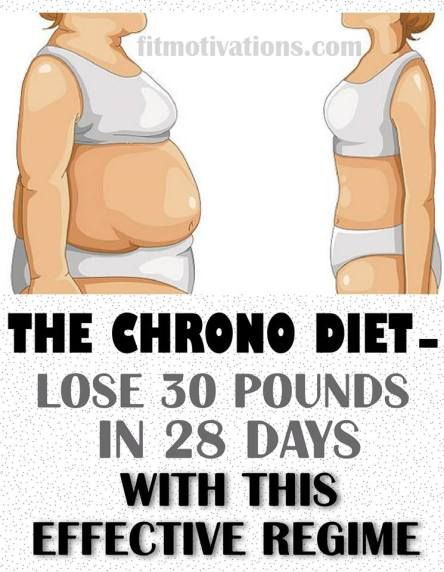 The Chrono Diet - Lose 30 Pounds In 28 Days With This Effective Regime