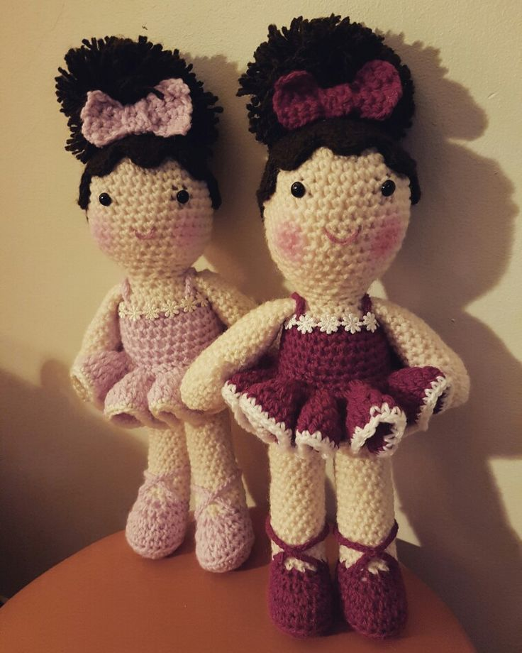 Ballet twins #dirtygrannycrochet #crochet #crochetdoll #ballet #ballerina #babydoll #ballerinadoll #twins