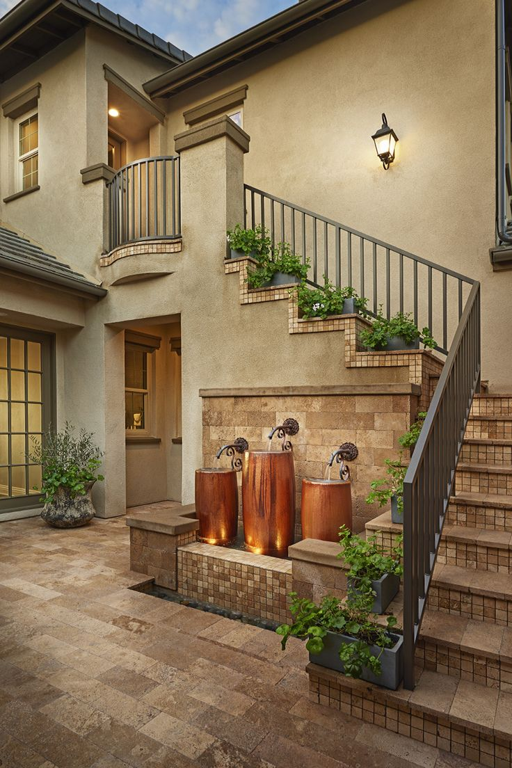 Prom staircase, SoCal style. | Reilly model home | The Summit at San Elijo Hills, San Marcos, California | Richmond American Homes