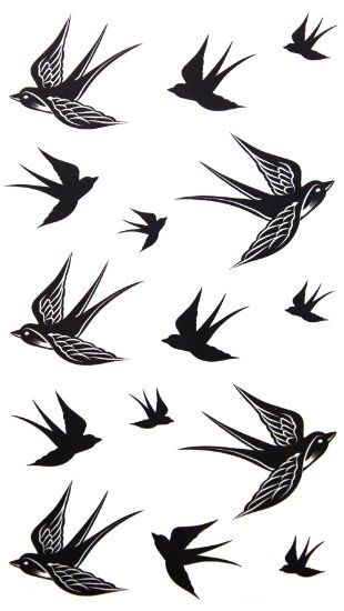 2012 neue Design Neues Release temporäre Tätowierung wasserdichte Swallow Tattoo-Aufkleber: Amazon.de: Parfümerie & Kosmetik