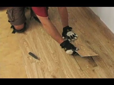 Loose lay vinyl plank flooring installation video.