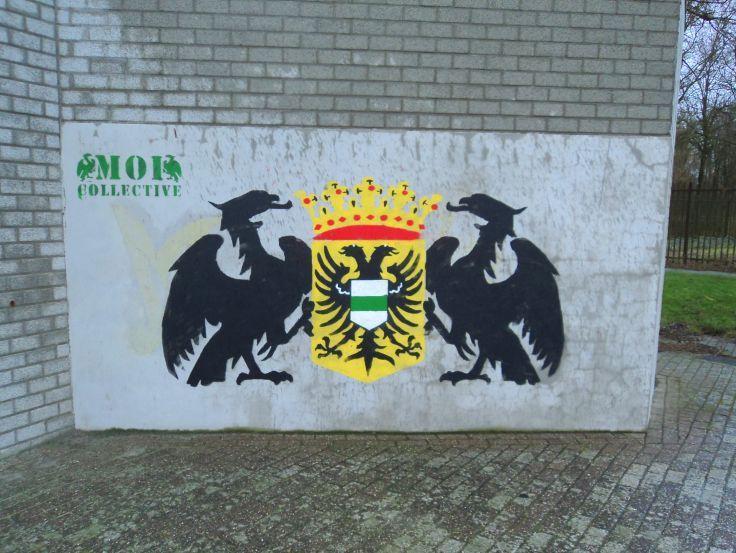 Stadswapen van Groningen door Moi Collective (locatie Hoornse Plas).