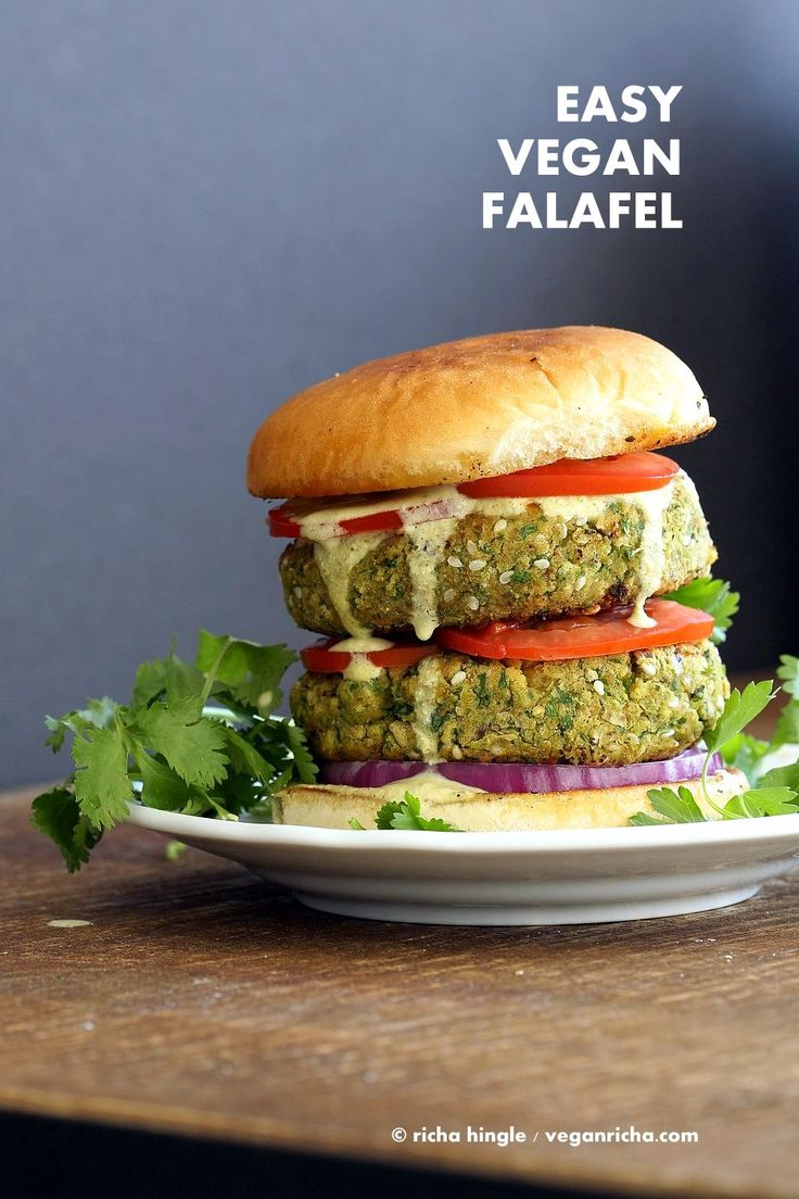 Easy Vegan Falafel Burger Recipe Cilantro Chickpea