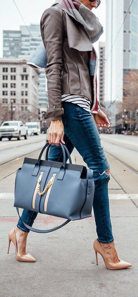 Precioso bolso, zapatos y bufanda:))