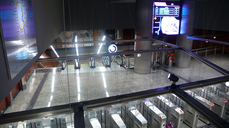 2nd floor at Puerta del Sol Commuter train station at the heart of madrid