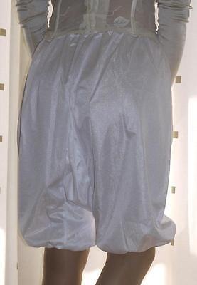 Vintage style Mylesta white silky directoire knicker long leg pantie~bloomers 20