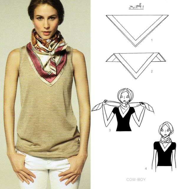 29 best hermes knotting cards images on pinterest scarfs head rh pinterest com Learn to Tie Scarves Scarf Tying Techniques