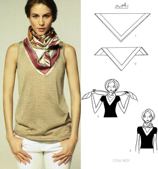 29 best hermes knotting cards images on pinterest scarfs head rh pinterest com Latest Scarf Tying Scarf Tying Printable Flyer
