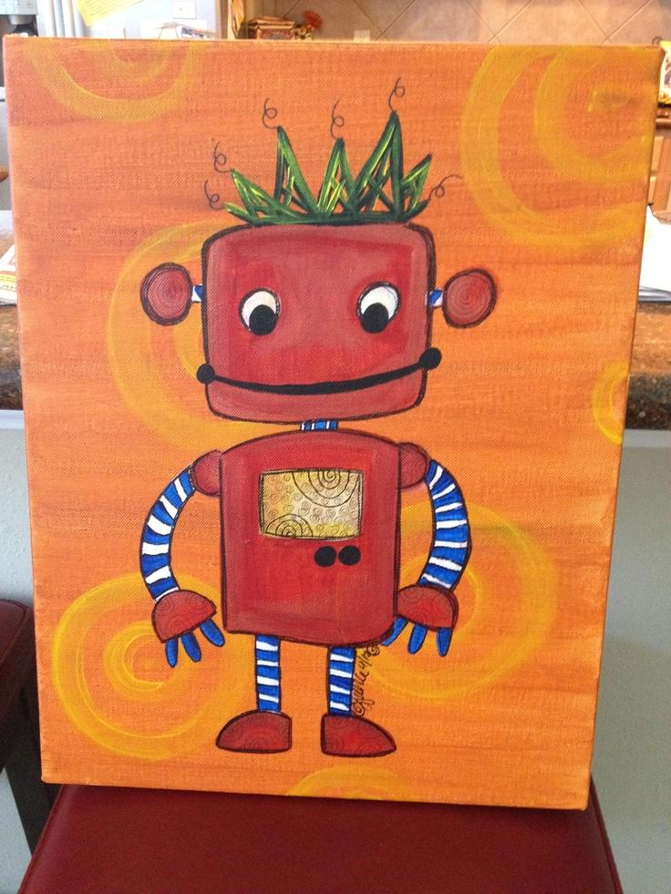 Robot nursery art.