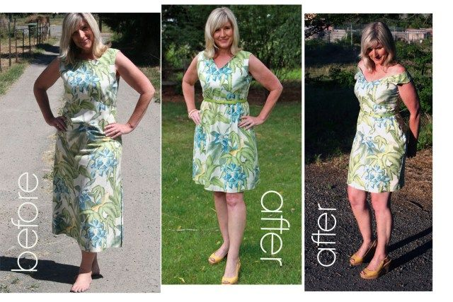 A Mumu Makeover with two choices of finished dresses.
