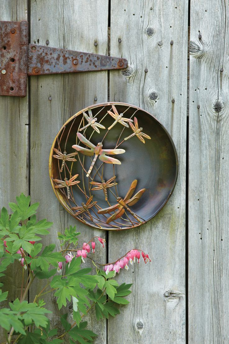 Dragonflies Hover Across This Disc, Creating A Dramatic, Piece Of Wall Art.  The Dragonflies Have A Textured Surface And A Hand Applied Finish.