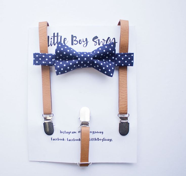 A great look ring bearers and the #wedding party! #Navy bow tie with tan #leather suspenders   Boy Navy Bow Tie Leather Suspender Set, Boy Wedding Bow Tie, 1st Birthday Boy, Boys Clothes, Ring Bearer Outfit, Rustic Wedding, Boys Gift by LittleBoySwag on Etsy https://www.etsy.com/ca/listing/253949211/boy-navy-bow-tie-leather-suspender-set