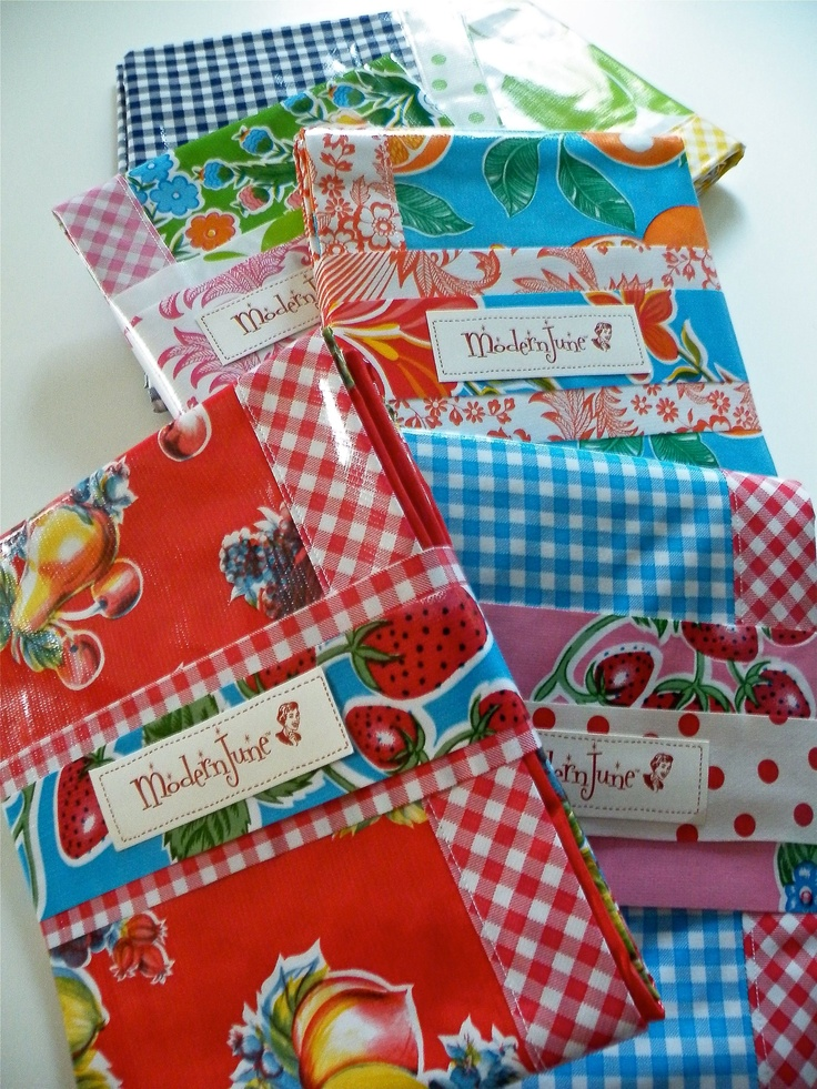 Oilcloth Tablecloths, Placemats and Splat Mats from Modern June