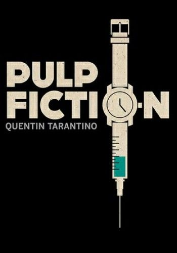 """AWESOME alternative movie poster for Pulp Fiction. Love the epipen [sic]/heroin/""""my daddy's watch"""" reference all tied into one graphic. This is literally making me want to watch this right now lol..."""