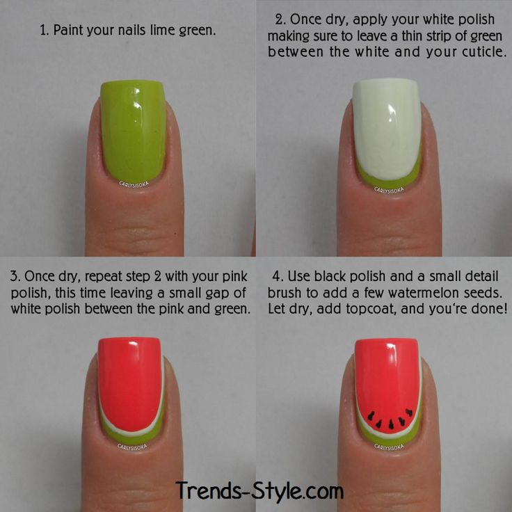 Watermelon Nail Art Tutorial ~ Entertainment News, Photos & Videos - Calgary, Edmonton, Toronto, Canada