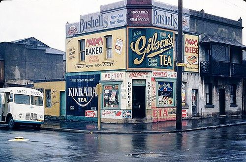 https://flic.kr/p/6cg2g7 | Corner store  1950s. Sydney, Australia | George St and John St.  Waterloo