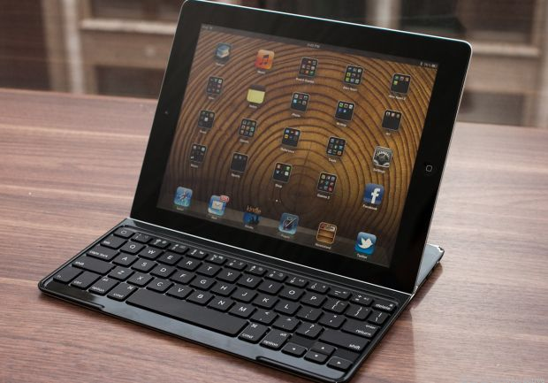 Logitech Ultrathin Keyboard Cover for iPad. Cover, but not protective case