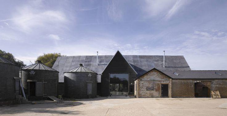Feering Bury Farm Barn : Industrial style houses by Hudson Architects