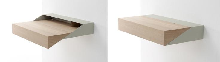Arco Deskbox - De Deskbox van Arco is een verrassend praktisch thuiswerkmeubel. Uitgeschoven is het een elegante werkplek. Na gebruik kan het geheel ingeschoven kan worden tot een gesloten doos, half zo groot als het werkblad. Een ontwerp van de hippe Raw Edges Design Studio.