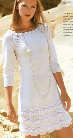 Вязание на спицах платье схемы выйкройки