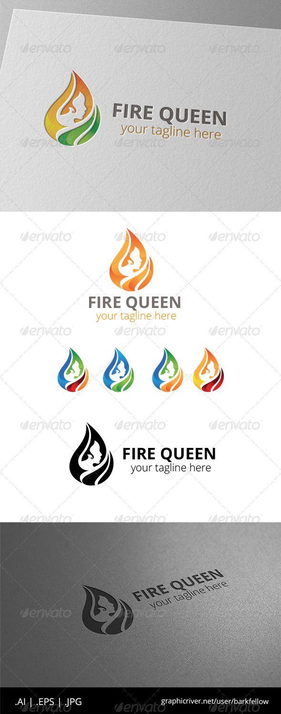 Fire Hair Women Logo - Humans Logo Templates