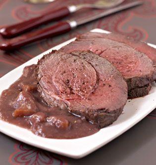 Rôti de biche, sauce grand veneur, la recette d'Ôdélices : retrouvez les ingrédients, la préparation, des recettes similaires et des photos qui donnent envie !