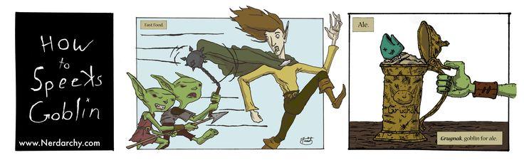 Food, Games, goblin, How To Speeks Goblin, humor, Webcomic