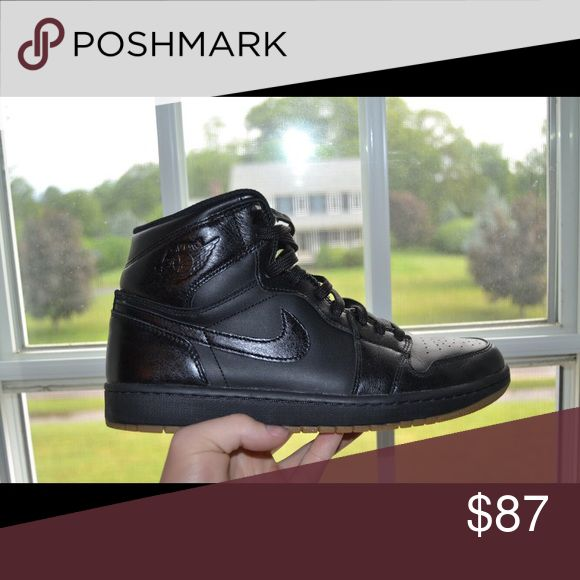 Jordan 1 Black/Gum Worn Once for pictures Jordan Shoes Sneakers